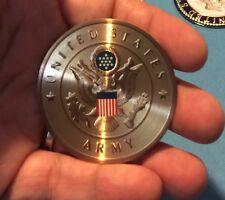 UNITED STATES ARMY LOGO EMBLEM  2' INCH LITHO INSERT ADHESIVE FREE SHIPPING