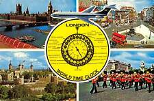 uk5484 world time clock london uk bus double decker soldier guards