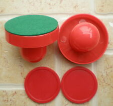 1SET Air Hockey Table 2 red 67mm Goalies Mallet Felt Pusher 2 red 50mm Puck NEW