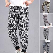 Kids Unisex Harem Trousers Hip Hop Elastic Waistband Dance Pants Loose Jogger