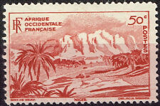 French West Africa Mountains Palms in Niger stamp 1944 MLH