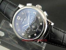 Ossna 42mm Black Dial Steel Case Automatic Mechanical Date Day Mens Watch 1621