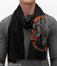 Affliction American Customs - BULL RUN - Men's Scarf - NEW - Reversible