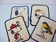 Set 4 Snoopy sew-on patches Nos all different * Free Us ship