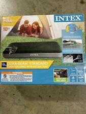 Intex Full Size Airbed with battery pump 10in height New #AP638