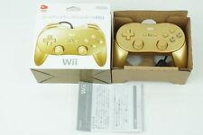 Club Nintendo Wii Classic Controller Pro Gold Limited  Box From Japan
