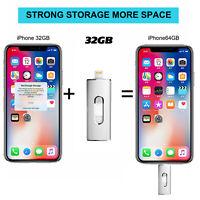 32GB-64GB USB 3.0 i-Flash Drive Memory Stick Lightning Port For iPhone X 8 7 PC