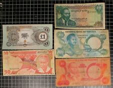AFRICA Bank Note Lot Nigeria Kenya Tanzania Biafra Shillings Currency Lot of 5