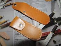 ETUI  Echt Leder für WENGER etc. Taschenmesser Solingen im Geschl.Zustand 9 cm.