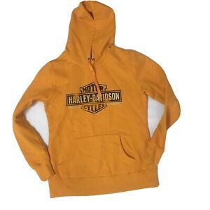 Harley Davidson Hoodie Size Small, Boise Idaho.  Orange