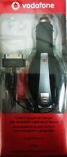 caricabatterie da auto per iPhone 4/4s NERO con avvolgicavo e presa USB
