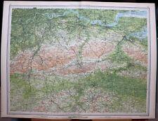 1939 SURVEY MAP ENGLAND & WALES CHATHAM TONBRIDGE LONDON RIVER THAMES MAIDSTONE