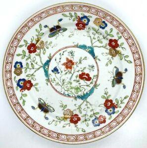 Antique Chamberlain Worcester Staffordshire Plate ca.1810 Floral & Butterflies