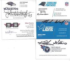 FOX SPORTS & NFL REFEREE MIKE PEREIRA SIGNED BUSINESS CARD