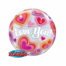 Party Supplies Love Valentines Day Doodle Hearts Bubble Balloon