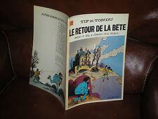 TIF ET TONDU N°25 LE RETOUR DE LA BETE - EDITION ORIGINALE BROCHEE 4e TRIM.1977