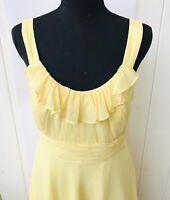 davids bridal bridesmaid dress Size 8 Yellow Style F13722