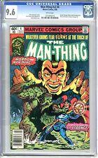 Man-Thing Vol 2  #4  CGC  9.6  NM+  Wht pgs Dr. Strange & Baron Mordo App. 5/80