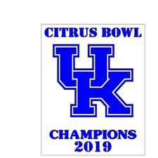 Citrus Bowl U Of K Champions 2019 5 X 7 Vinyl Car Truck Window Decal Stickers