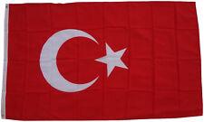 XXL Flagge Türkei 250 x 150 cm mit 3 Messingösen Turkey Flaggen Hissflagge Fahne