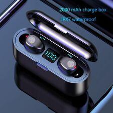 F9 TWS Inalámbrico Bluetooth Estéreo V5.0 Mini Auricular Sport 2000 mAh Energía Auriculares