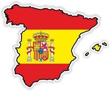 SPAIN Espana Spanish Sticker MAP FLAG SILHOUETTE BUMPER VINYL DECAL CAR BIKE