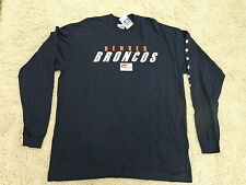 NFL Denver Broncos Long Sleeve Shirt 2 Sided Shirt Front and Back  by Majestic