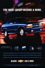 2001 Chevrolet Chevy  Blazer - Mime - Classic Vintage Advertisement Ad D65