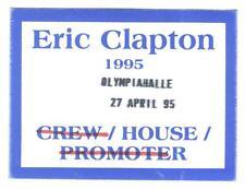 Eric Clapton 1995 - Konzert-Satin-Pass House vom 27.04.1995 Schönes Sammlerstück
