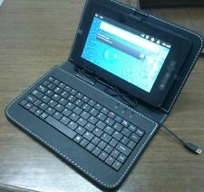 "CUSTODIA IN PELLE CON TASTIERA USB PER TABLET 8"" leather case con keyboard cover"