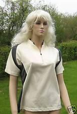 ATMUNGSAKTIV  Walking-Shirt, kurzarm, vanille/grau, 40