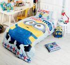 Minions Despicable Me Single Double Queen Bed Quilt Duvet Cover Set