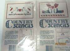 COUNTRY STENCILS..DUCKS AND COUNTRY BOYS...LOT OF2
