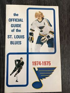 1974-75 St Louis Blues Official Hockey Media Guide Blue Note Hockey