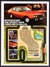 """1979 Ford Pinto Rallye Coupe photo """"Best Small Car"""" vintage promo print ad"""