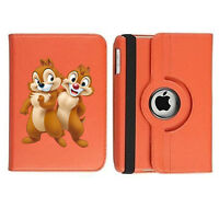 Chip and Dale Disney Rotating Case Cover Stand For Apple iPad