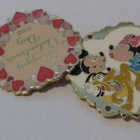 Disney Happy Valentines Day Mickey and Minnie Heart Pin