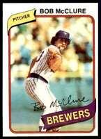 1980 Topps Set Break Bob McClure Milwaukee Brewers #357