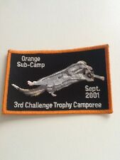 Pfadfinder Boy Scouts Abzeichen Aufnäher Trophy Camporee Orange Sub-Camp 2001
