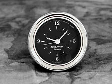 52-53 Ford Car Billet Aluminum Clock Insert w/Auto Meter Old Tyme Black Clock