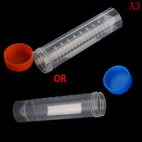 10Pcs 50ml Plastic Centrifuge Tube Pipe Vial Lab Test Container With 4 Bottom XS