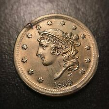 1839 Coronet Silly Head Large Cent GEM Uncirculated Luster MS UNC BU 1c Rare EAC