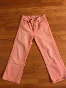 Christopher Blue Womens Stretch Hi-Rise Distressed Denim Capri Jeans Pants Sz 4