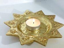 Stella Di Natale Piatto Oro Porta Candele Addobbo Tavola 4 pezzi Decorazione