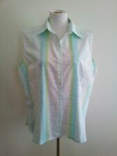 Cool Hues! Resort Report size 18 aqua sleeveless top in excellent condition