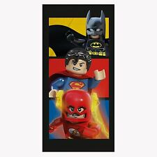 LEGO DC COMICS SUPEREROI Asciugamano Batman Superman Flash NUOVO