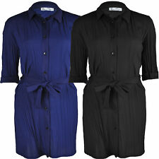 Unbranded Polyester Collared Casual Tops & Shirts for Women