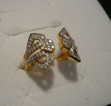 Diamond Ring Size 9  72 diamonds  .65tcw 14kYG overlay 925 sterling MSRP$1649