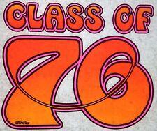 Original Vintage Class of 76 Iron On Transfer