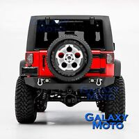 "Rock Crawler Rear Bumper w/2x LED light+2"" Hitch for 07-18 Jeep JK Wrangler"